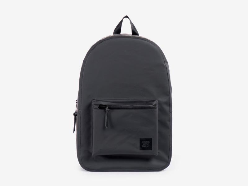 Herschel Supply Studio – batoh na záda, voděodolný, černý, vodotěsné zipy – Settlement Backpack