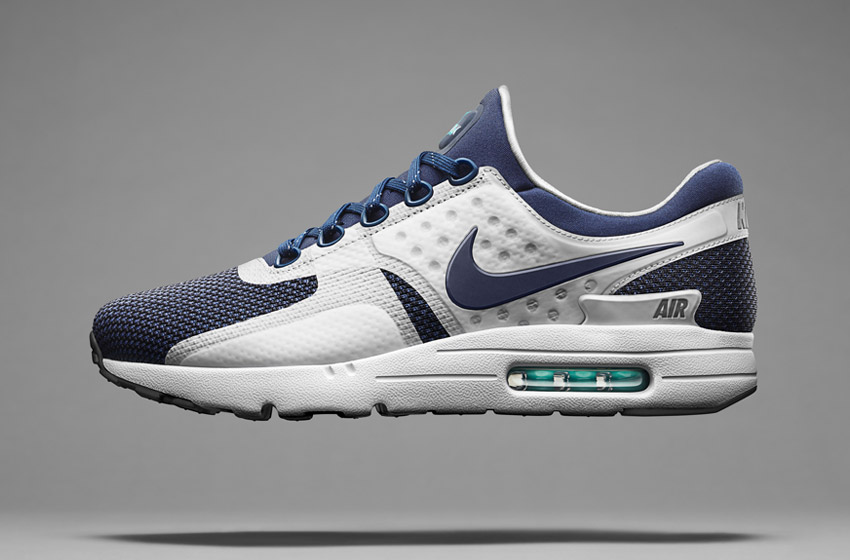 Nike Air Max Zero — bílo-modré boty, tenisky, sneakers, dámské a pánské