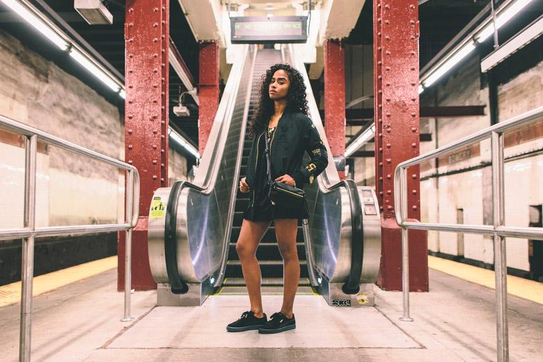 Puma x Vashtie – kolekce oblečení jaro/léto 2015 – dámský černý bomber