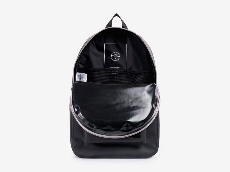 Herschel Supply Studio – voděodolný batoh na záda, černý, vodotěsné zipy – Settlement Backpack