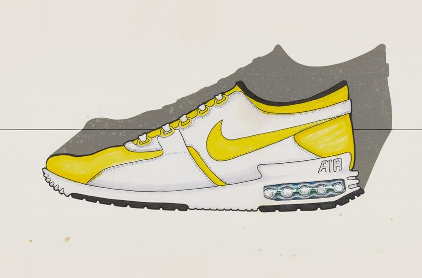 Nike Air Max Zero — skica, nakres