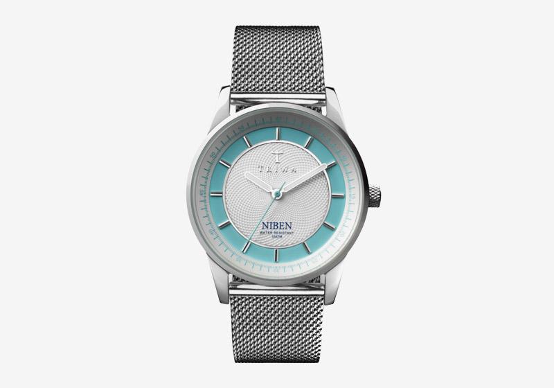 Triwa – dámské – hodinky – stříbrné, ocelové, modrý ciferník – Azure Niben