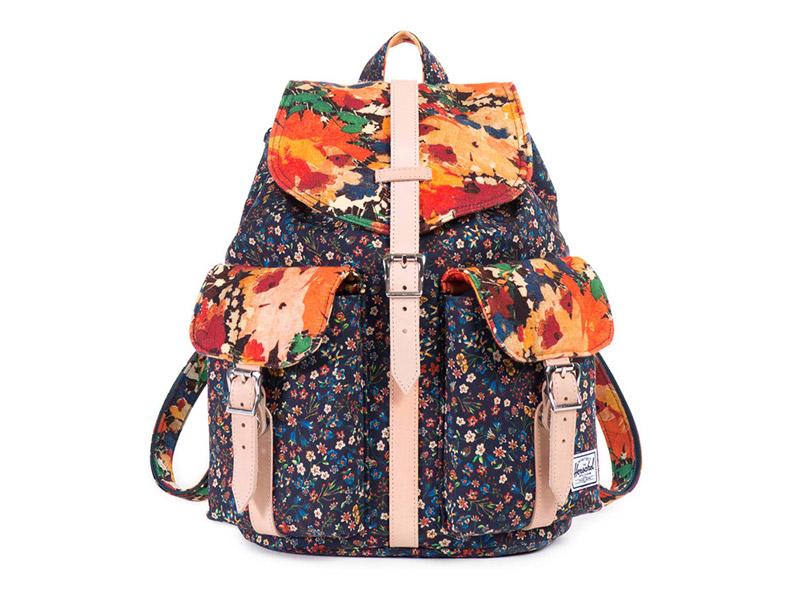 plátěný (bavlněný) dámský batoh Herschel Supply x Liberty — s květinovými vzory, plátěný (bavlněný) — Dawson