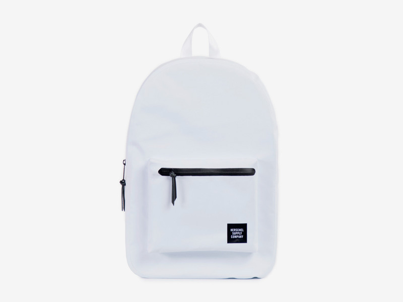 Herschel Supply Studio – batoh na záda, voděodolný, bílý, vodotěsné zipy – Settlement Backpack