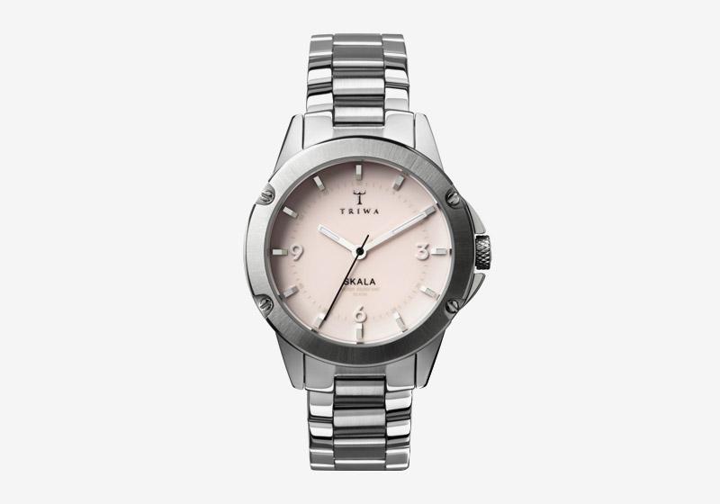 Triwa – hodinky – dámské – ocelové, stříbrné, růžový ciferník – Blush Skala