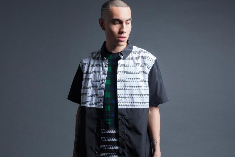 Black Scale – pánská košile s krátkým rukávem – černo-bílá – jaro 2015