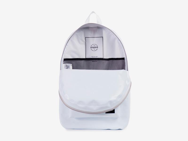 Herschel Supply Studio – voděodolný batoh na záda, bílý, vodotěsné zipy – Settlement Backpack