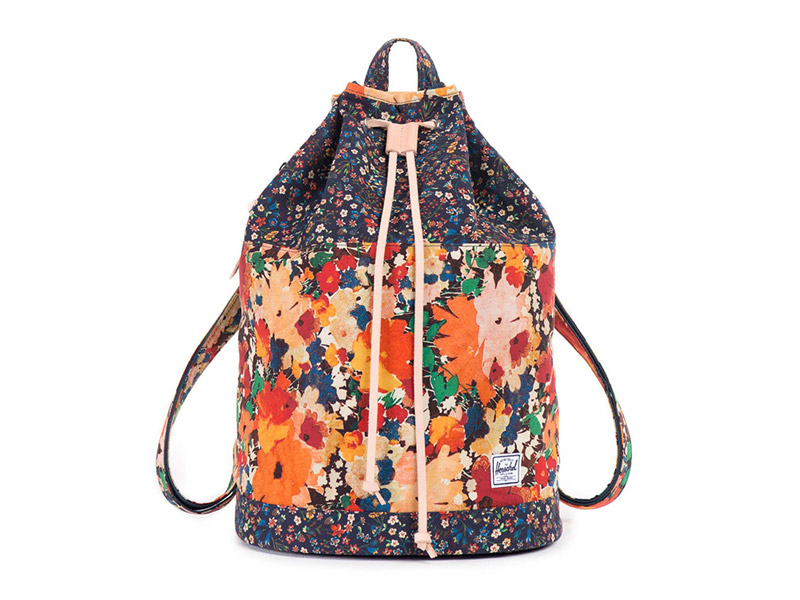 plátěný (bavlněný) batoh Herschel Supply x Liberty — pro ženy, květinové vzory — Hanson