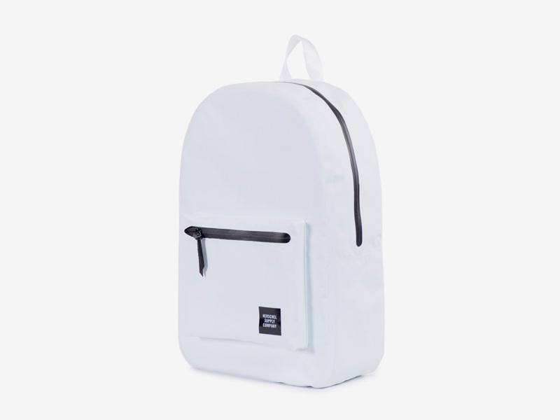 Herschel Supply Studio – batoh na záda, bílý, voděodolný — vodotěsné zipy – Settlement Backpack