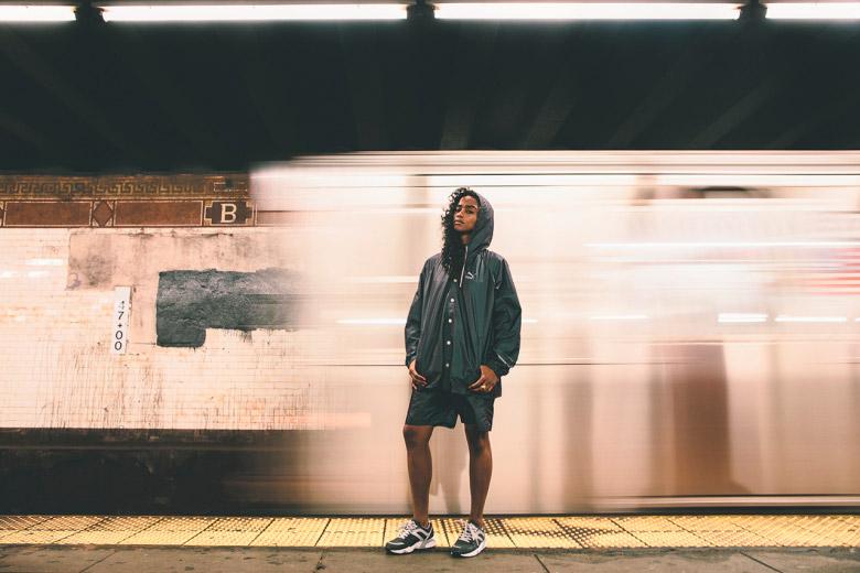 Puma x Vashtie – kolekce oblečení jaro/léto 2015 – šortky, černá větrovka s kapucí