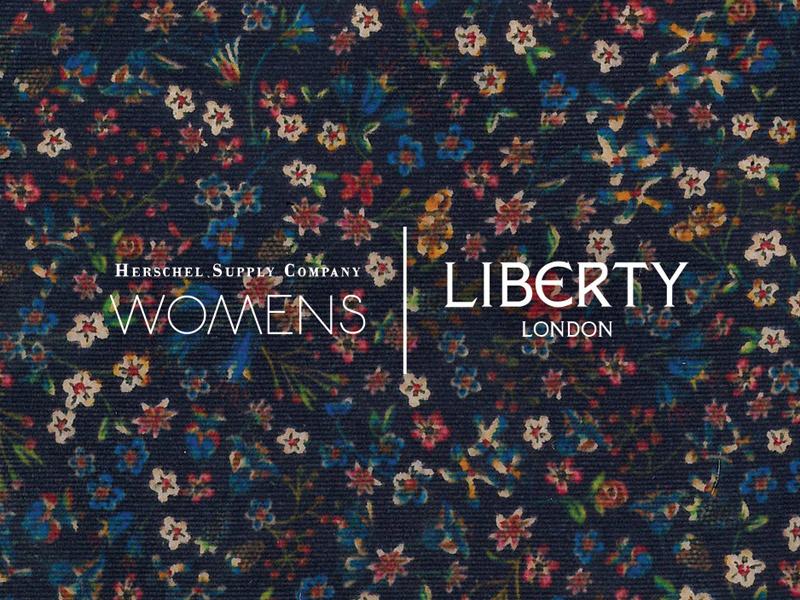 Herschel Supply x Liberty — kolekce dámských plátěných (bavlněných) batohů na záda s květinovými vzory