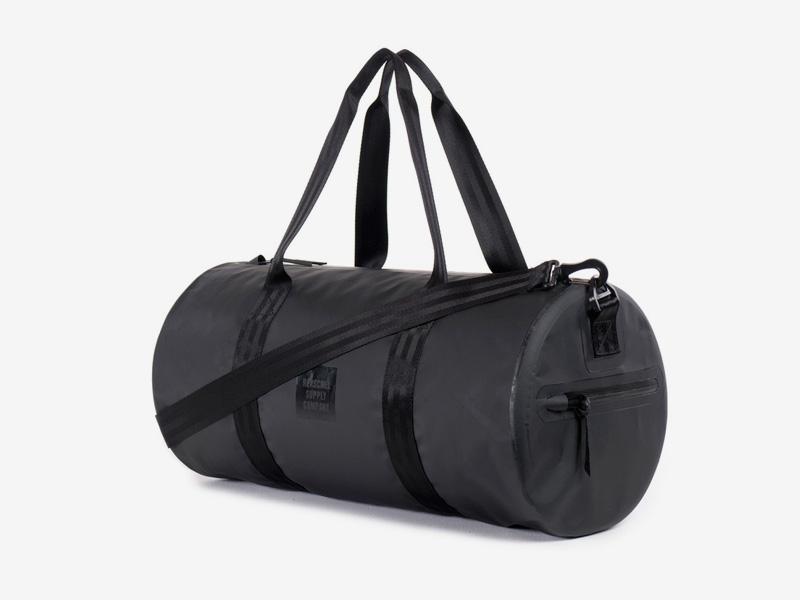 Herschel Supply Studio – voděodolná cestovní taška do ruky/na rameno, černá, vodotěsné zipy – Sutton Duffle Mid Volume