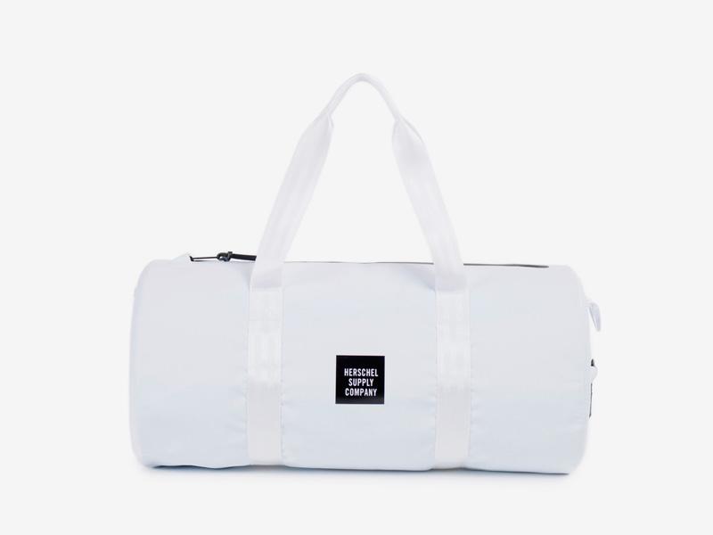 Herschel Supply Studio – cestovní taška do ruky/na rameno, voděodolná, bílá, vodotěsné zipy – Sutton Duffle Mid Volume
