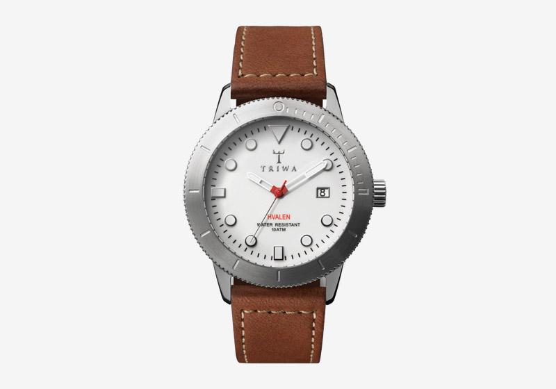 Triwa – náramkové hodinky – ocelové pouzdro, bílý ciferník, hnědý kožený náramek – pánské a dámské – Ivory Hvalen