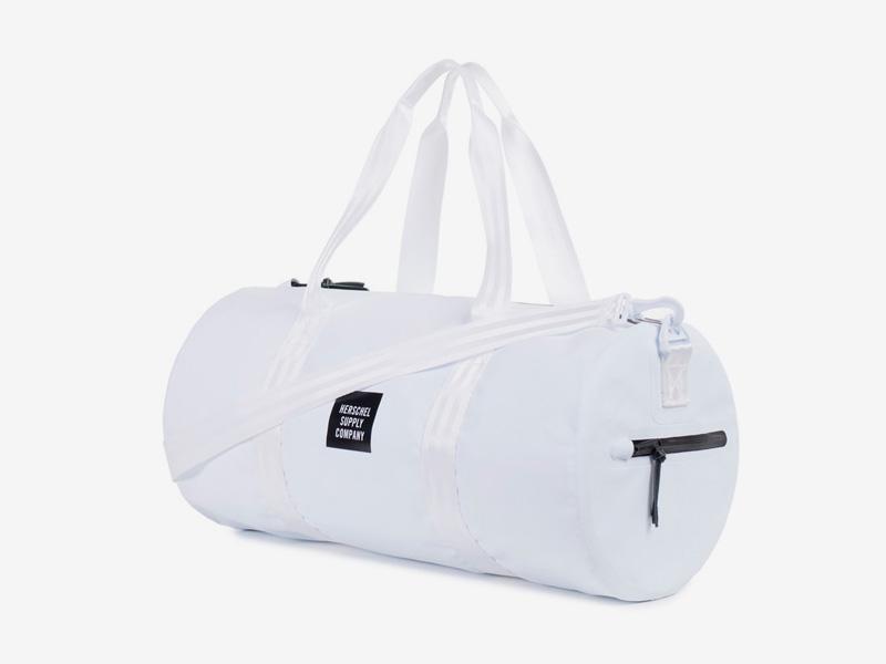 Herschel Supply Studio – voděodolná cestovní taška do ruky/na rameno, bílá, vodotěsné zipy – Sutton Duffle Mid Volume