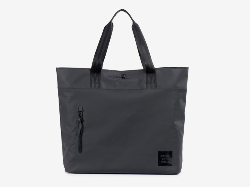 Herschel Supply Studio – nákupní/městská taška do ruky, černá, voděodolná – Alexander Tote