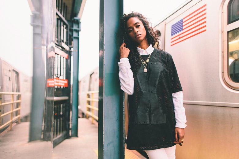 Puma x Vashtie – kolekce oblečení jaro/léto 2015 – černé tričko, dres