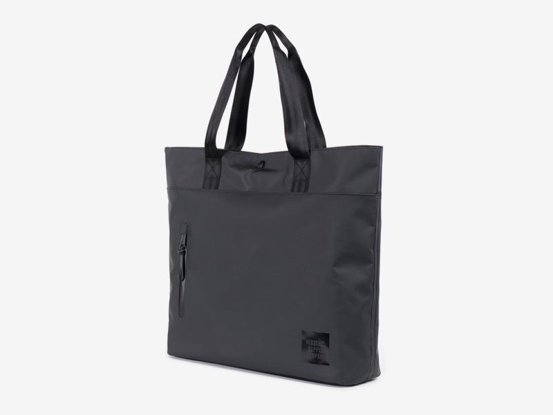 Herschel Supply Studio – voděodolná nákupní/městská taška do ruky, černá – Alexander Tote