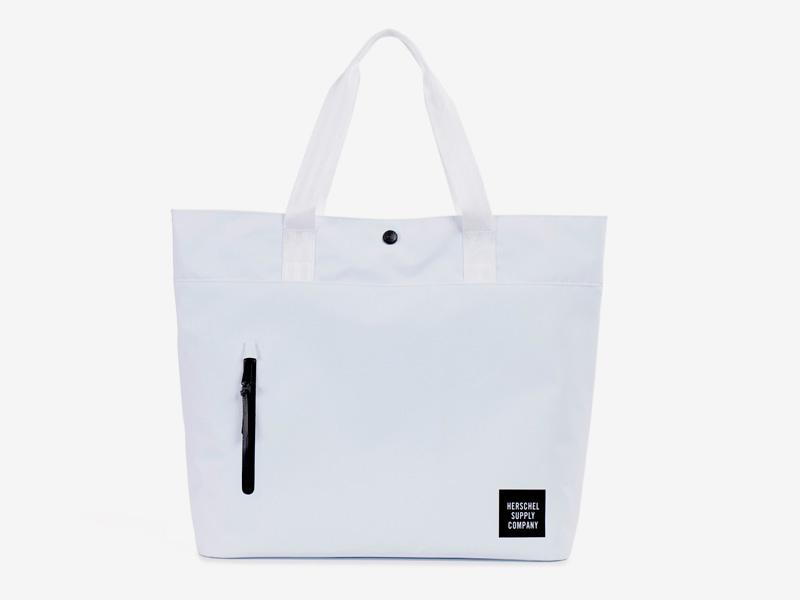Herschel Supply Studio – nákupní/městská taška do ruky, bílá, voděodolná – Alexander Tote