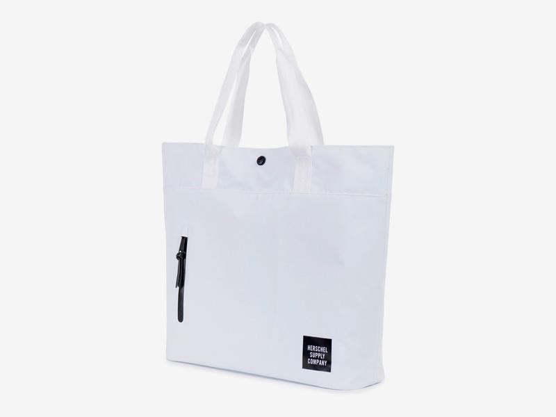 Herschel Supply Studio – voděodolná nákupní/městská taška do ruky, bílá – Alexander Tote