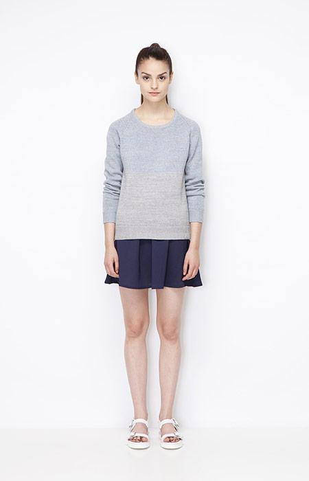 Ucon Acrobatics — dámský jarní svetr, modrá sukně — dámské oblečení — jaro/léto 2015