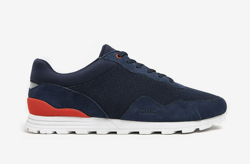 Clae — modré boty Hoffman, tenisky, sneakers, běžecký design, pánské a dámské