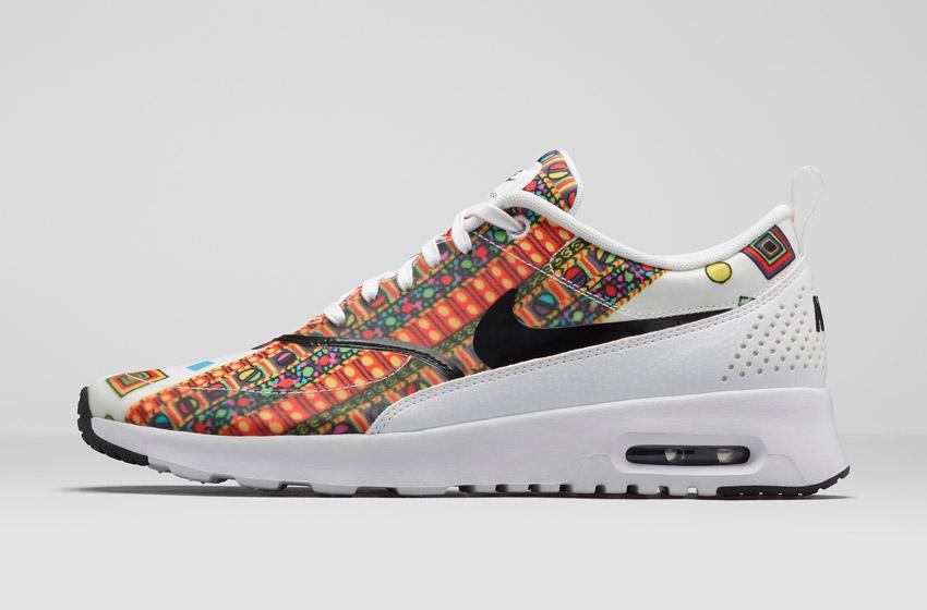Nike Air Max Thea Liberty Merlin — dámské bílé boty se vzorem 9804cd6cd9