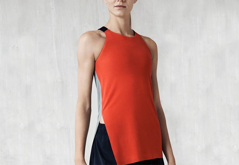 NikeLab x JFS — dámské sportovní tílko – červené — dámské letní sportovní oblečení