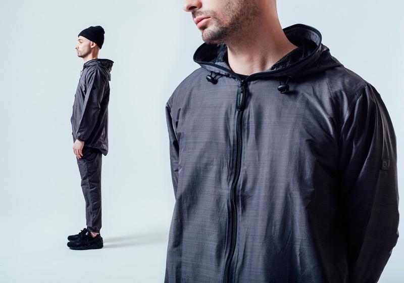 Unyforme — pánská jarní bunda s kapucí, šedá, kalhoty joggers – šedé — pánské trendy oblečení – jaro 2015