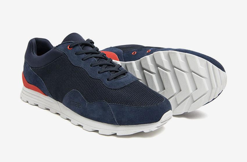 Clae — modré tenisky Hoffman, sneakers, běžecký design, pánské a dámské boty