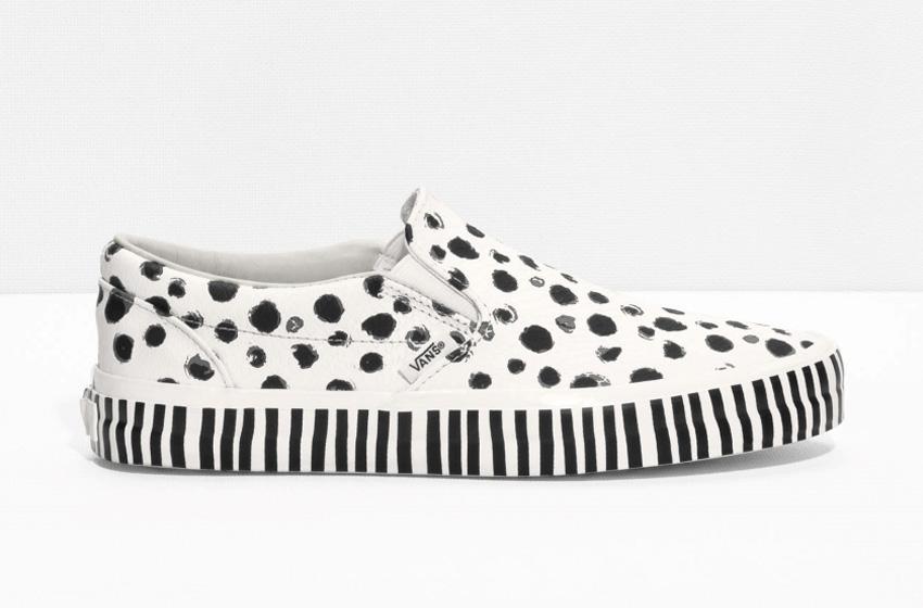 & Other Stories x Vans Slip-On – tenisky bez tkaniček, světle hnědé (krémové) kožené boty, sneakers