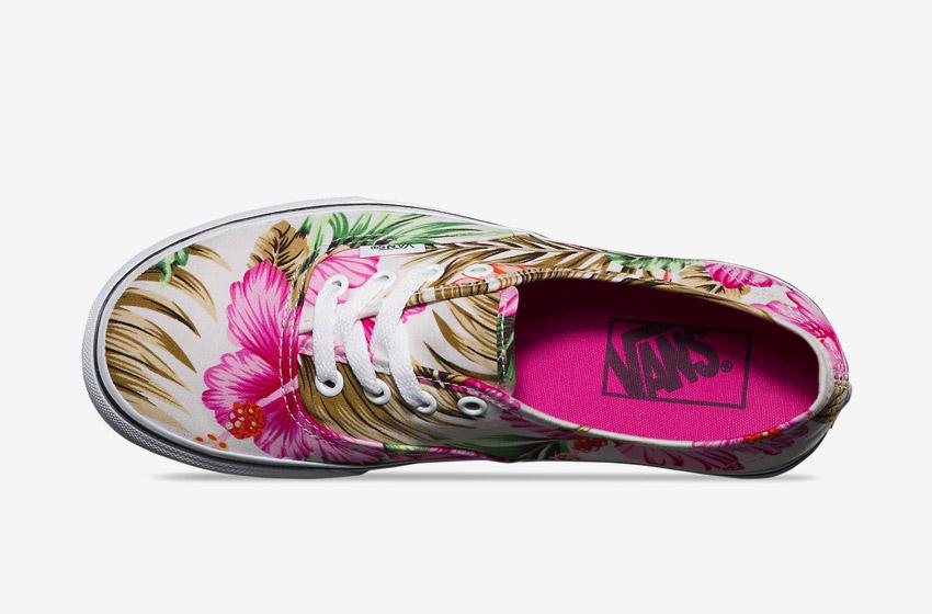 Vans – Authentic Hawaiian Floral – dámské Vansky, boty, letní tenisky, plátěné kecky, barevné rostlinné motivy