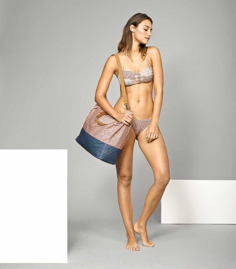 O'Neill x Liberty – dámské dvoudílné plavky se vzory, plážová taška