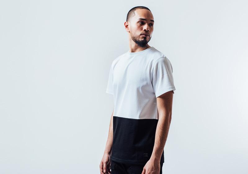Unyforme — černo-bílé pánské tričko — pánské trendy oblečení – jaro 2015