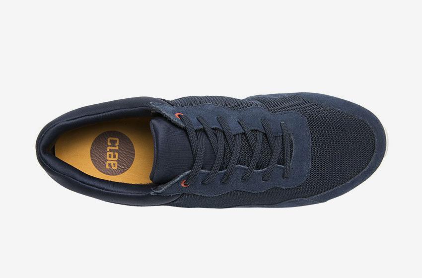 Clae — Hoffman, horní pohled, modré boty, tenisky, sneakers, běžecký design, pánské a dámské