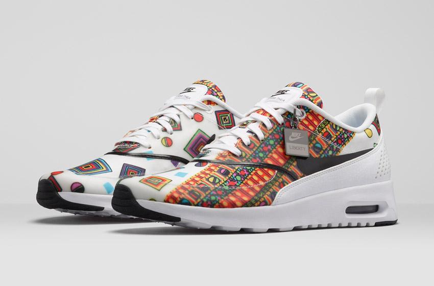 Nike Air Max Thea Liberty Merlin — dámské bílé boty se vzorem, sneakers, tenisky