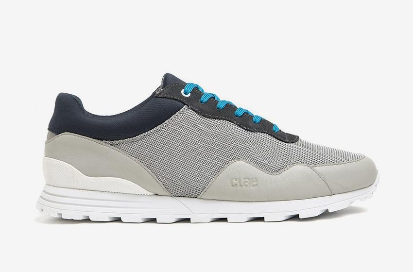 Clae — šedé boty Hoffman, tenisky, sneakers, běžecký design, pánské a dámské