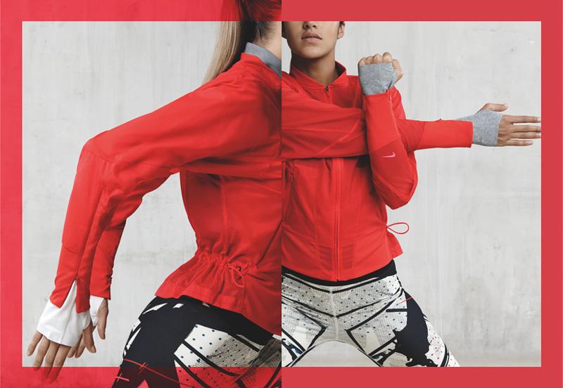 NikeLab x JFS — dámská červená sportovní bunda — dámské letní sportovní oblečení
