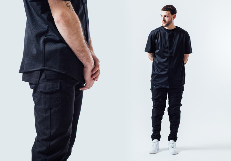 Unyforme — černé tričko pánské, kalhoty joggers s gumou v nohavicích — pánské trendy oblečení – jaro 2015
