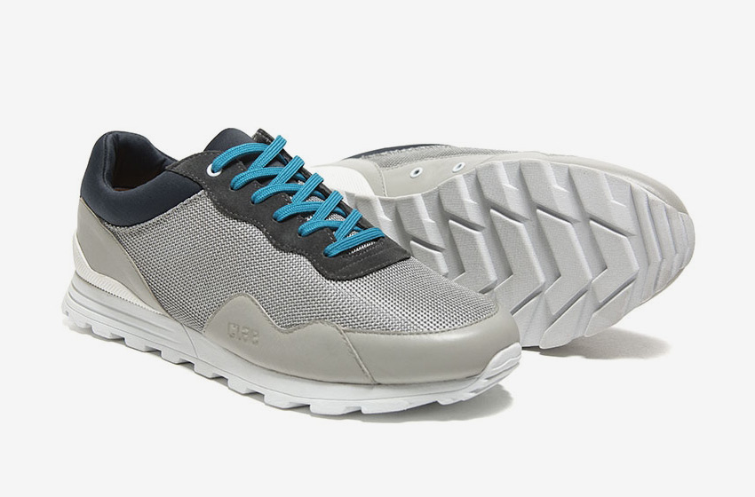 Clae — šedé tenisky Hoffman, sneakers, běžecký design, pánské a dámské boty