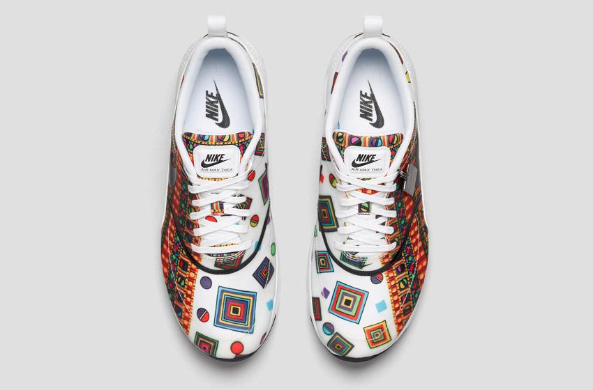 Nike Air Max Thea Liberty Merlin — dámské bílé boty se vzorem, sneakers, tenisky, horní pohled