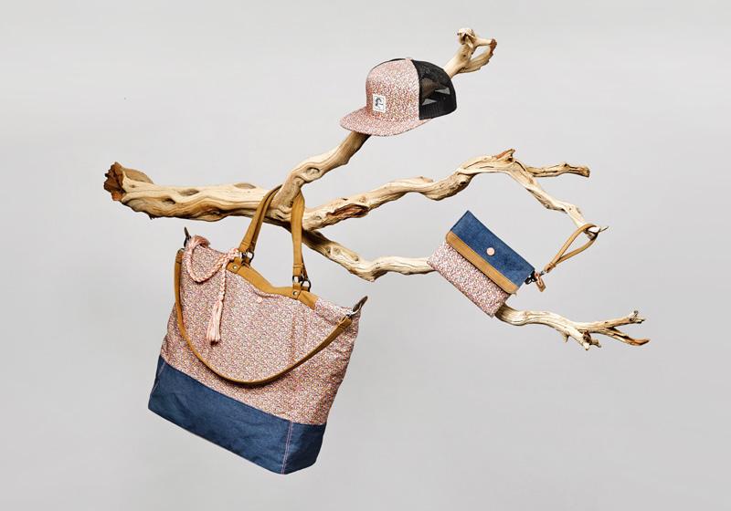 O'Neill x Liberty – dámské plážové doplňky, taška, kšiltovka, peněženka