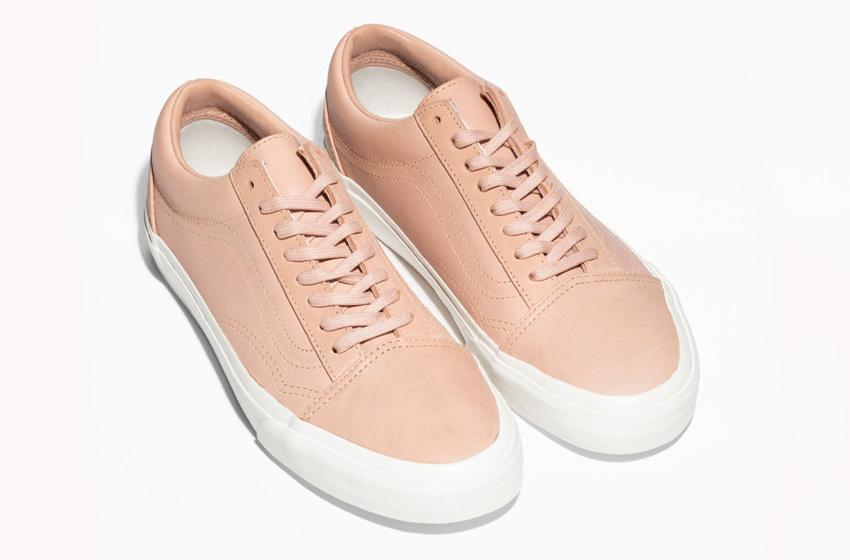 & Other Stories x Vans Old Skool – tenisky, světle hnědé (krémové) kožené boty, sneakers