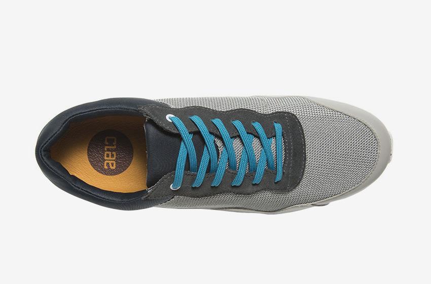 Clae — Hoffman, horní pohled, šedé boty, tenisky, sneakers, běžecký design, pánské a dámské