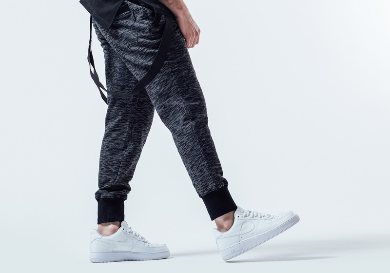 Unyforme — šedé tepláky, joggers, pánské — pánské trendy oblečení – jaro 2015