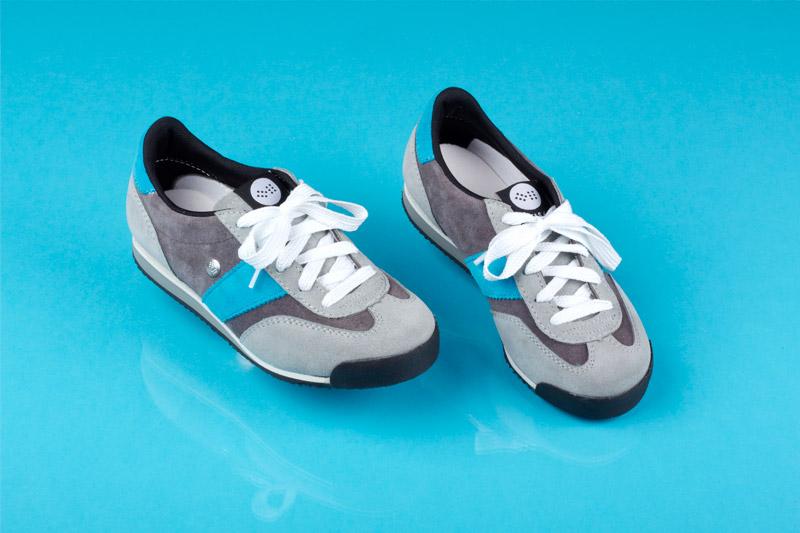 Botas 66 — Classic — Almost Dry — šedé retro tenisky, semišové boty, dámské a pánské