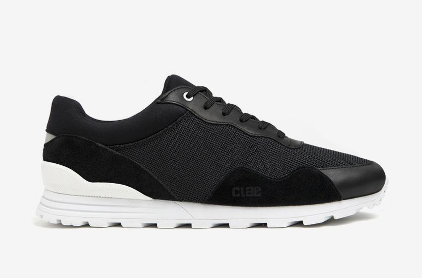 Clae — černé boty Hoffman, tenisky, sneakers, běžecký design, pánské a dámské
