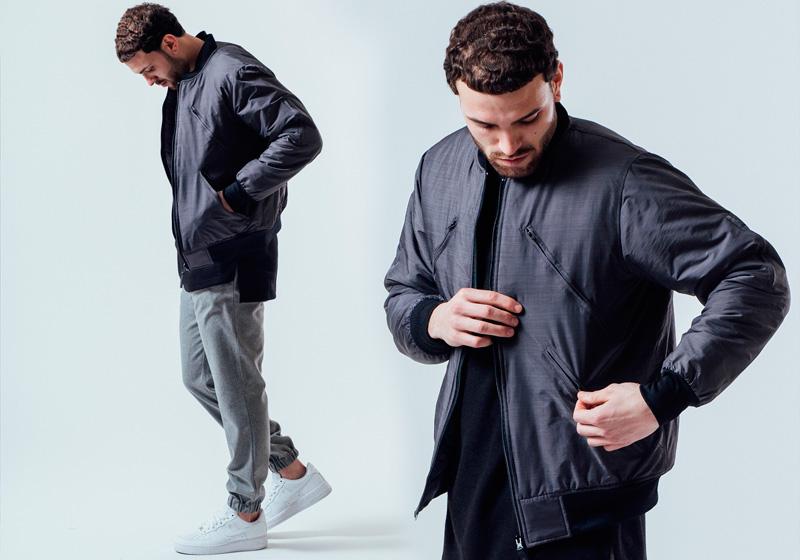 Unyforme — pánský šedý bomber, bunda do pasu — pánské trendy oblečení – jaro 2015