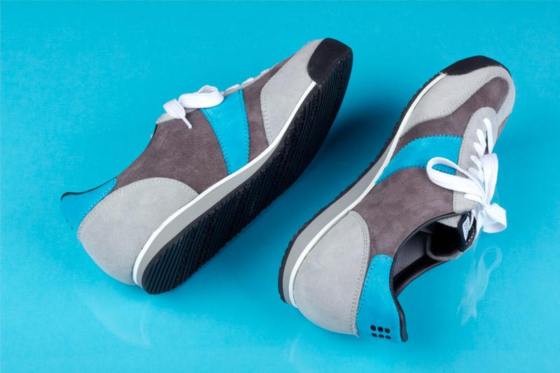 Botas 66 — Classic — Almost Dry — šedé semišové boty, retro tenisky, dámské a pánské