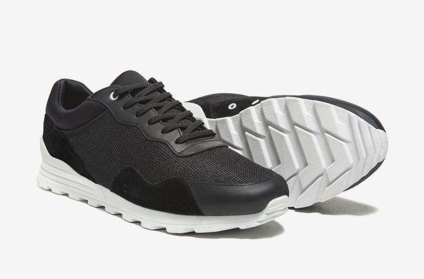 Clae — černé tenisky Hoffman, sneakers, běžecký design, pánské a dámské boty